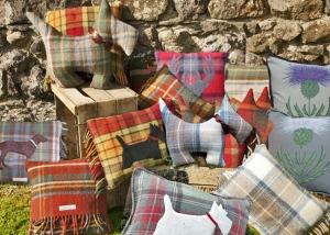 tartan scatter cushions